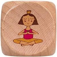 Lúdilo- Yogi Dice ninos Cartas, Familia, Juego Yoga para niños, Color Azul (YF-005)