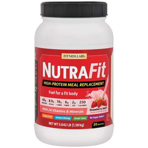 - Fitness Labs NutraFit High-Protein Meal Replacement (Strawberry Swirl, 3 Pounds)