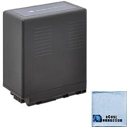 VW-VBG6 6600mAh Li-Ion Camcorder Battery for Panasonic AG-AC160A, AG-AC7, AG-AC130A, AG-AC160A, AG-HMC40, AG-HMC70, AG-HMC150 & an eCostConnection Microfiber Cloth