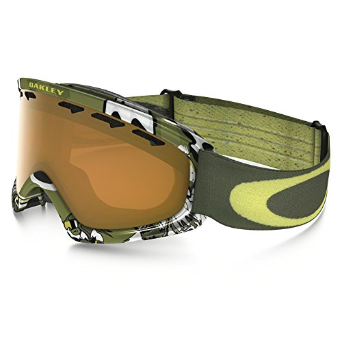 Oakley O-Frame 2.0 XS Snow Goggles, Shady Trees Blue/Red, - Youth Oakleys