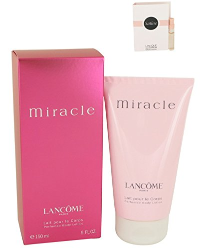 Price comparison product image Lancomê Miracle Body Lotion 5 oz. [WP] Free! Sample Perfume Lalique Satine 0.06 oz Vial