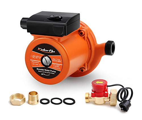 KOLERFLO 245W Home Pressure Boost Pump NPT 1 inch Automatic Boost Pump with Water Flow Switch for Household (UPA120 Orange)