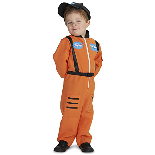 Astronaut Costume For Girls (Orange Astronaut Toddler Dress UpCostume 2-4T)