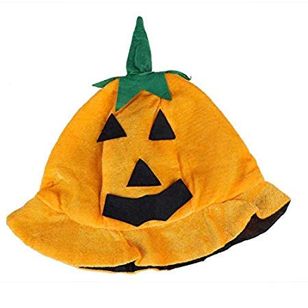 Dome Decor - Halloween Dress Up Products Makeup Ballroom Pumpkin Hat Performance Props Decorative Yellow Smile - Glass Ations -