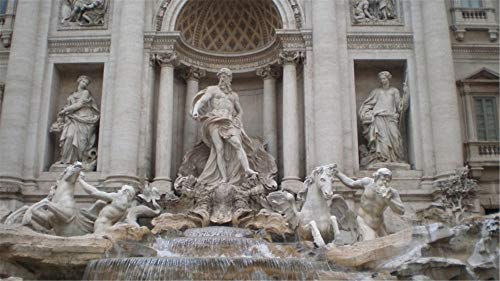 Jigsaw Puzzle 1000 Piece Fontana Di Trevi Fountain Statues Water Tourists Classic Puzzle DIY Kit Wooden Toy Unique Gift Home Decor
