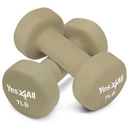 Yes4All Hexagon Neoprene Coated Dumbbell (Pair) – Multiple Weight Options
