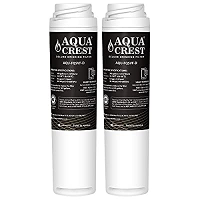 AQUACREST FQSVF NSF 401,53&42 Replacement Under Sink Water Filter, Compatible with GE FQSVF, GXSV65R (1 Set) - Reduces Lead, Chlorine, Taste & Odor, Cyst, Benzene and More