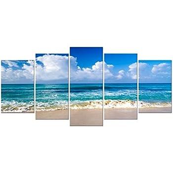 caribbean seascape paintings amazoncom tropical beach print on canvas seascape canvas art