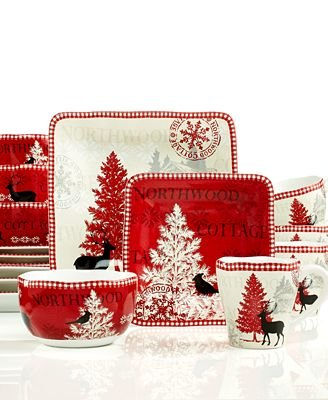 222 Fifth Dinnerware, Northwood Cottage 16-Piece ()