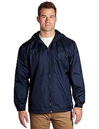 Men's Lined Hooded Wind Resistant/Water Repellent Windbreaker Jacket