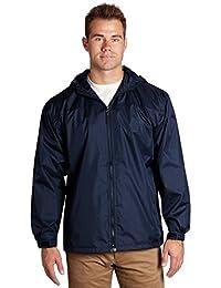 FBI Jacket - Lined Hooded Pockets Full Zip - Navy, 2XL - éb79