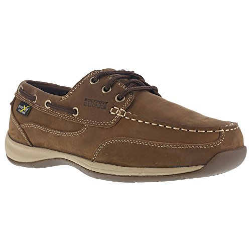 Rockport Work Women's Sailing Club RK634 Industrial and Construction Shoe, Brown, 8 W US