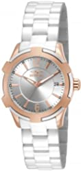 Invicta 15836 Ceramics Women's Quartz Stainless Steel White Bracelet Watch