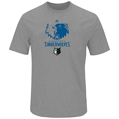 NBA Minnesota Timberwolves Adult men NBA S/Hyper Slub Tee,3X,Heathergrey