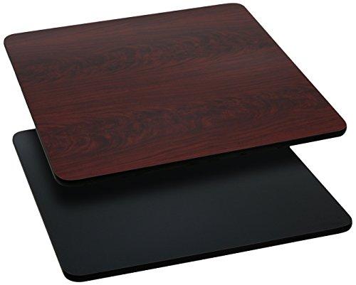 Flash Furniture 3 Pk. 24'' Square Table Top with Black or Mahogany Reversible Laminate Top - Laminate Table Top