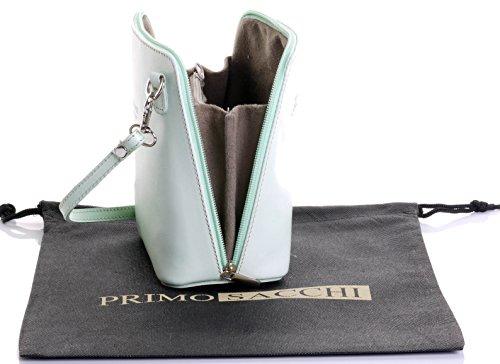 à de sac Petit peinte protecteur la cuir main de Primo ou de nbsp;Comprend rangement Pâle main un bandoulière marque Vert Sacchi en italien sac sac à v855Ewzq