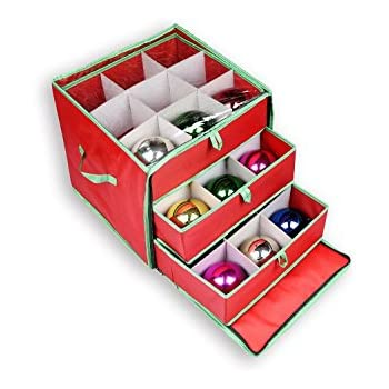 Delicieux NGenius Christmas Ornament Storage Box With Drawers For 27 Large Ornaments