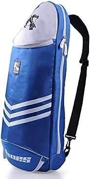 Ifever Polyester Badminton Racket Bag with Shoe Compartment, Large Single Shoulder Racket Bag Backpack Fits 6