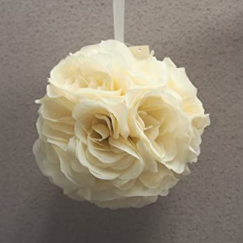 Amazon.com: Garden Rose Kissing Ball - White - 6 inch Pomander ...