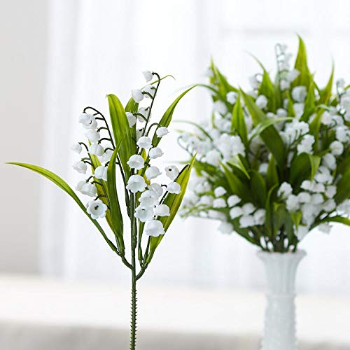 Lily Bouquet The Valley Of (Factory Direct Craft Dainty Artificial White Lily of The Valley Floral Picks | 12 Picks | for Indoor Decor)