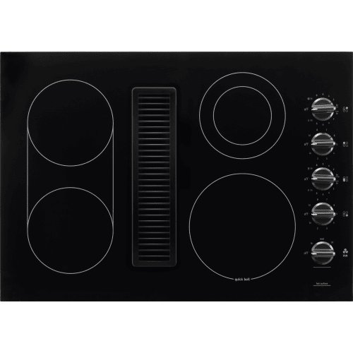 30 Inch Downdraft Electric Cooktop ~ Frigidaire rc de pb inch burner smoothtop electric