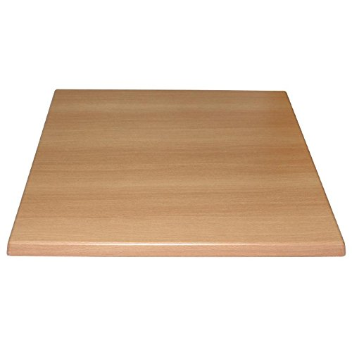 Bolero Square Table Top Beech 600mm Wood Restaurant Catering Hotel Bar Nisbets 3234