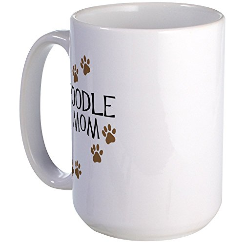 CafePress - Poodle Mom Large Mug - Coffee Mug, Large 15 oz. White Coffee (White Standard Poodle)