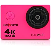 MaxXmove MXM-AC-RIZEH4-P Rize H4 4k 30fps Action Camera with 2 Display, Pink