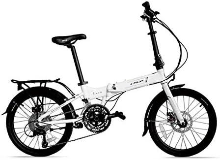 MASLEID Aluminio Bicicleta Plegable de 27 velocidades de 20 Pulgadas: Amazon.es: Deportes y aire libre