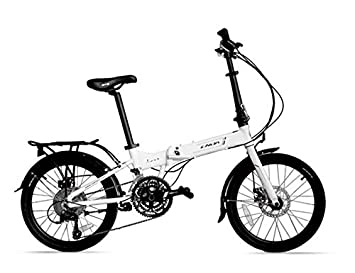 MASLEID aluminio bicicleta plegable de 27 velocidades de 20 pulgadas