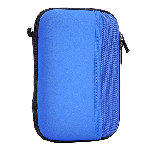 Hard Travel Carrying Case for Seagate Expansion,Backup Plus Slim,WD Elements,My Passport,Toshiba Canvio Basics Portable External Hard Drive,Electronics Organizer (Blue) by Natiker (Image #2)
