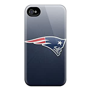 Defender Case With Nice Appearance (new England Patriots) For Iphone 4/4s