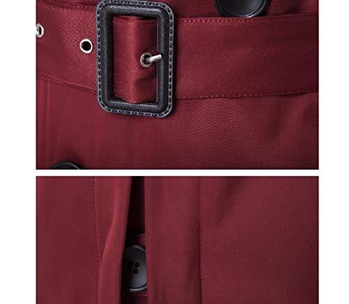 Uomini Giù Gira Outwear Con Degli Forma In Adattata Cintura Rosso Vino Trench Rkbaoye w8B0Iqtn