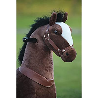 Medallion - My Pony Ride On Real Walking Horse for Children 5 to 12 Years Old or Up to 110 Pounds (Color Medium Chocolate Horse) for Boys and Girls: Toys & Games