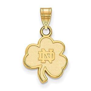 Charm Pendant 14K Yellow Gold NCAA University Of Notre Dame