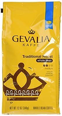 GEVALIA Traditional Roast, Whole Bean Coffee, 12 Ounce