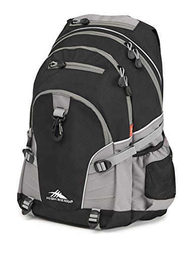 2017 Back-to-School Popular Backpacks Teens & Tweens - High Sierra Loop Backpack (Black/Charcoal)