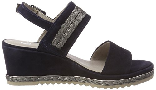Natural 28340 Navy Damen Slingback Blau Sandalen Be wvAqxw