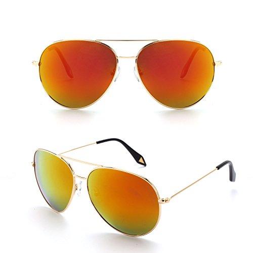 y Mujer de Sol Moda Para MJ89 CGID Pilot Completo Lente Para Gafas Polarizado Antirreflejante Hombre Dorado Diseño UV400 con Retro de xTx7H