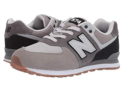 New Balance Boys' Iconic 574 Sneaker Castle Rock/Black 6.5 M US Big Kid