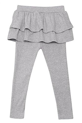 Price comparison product image ASHERANGEL Kid Baby Girl Ruffle Culotte Legging Trousers Pantskirt Grey 4T