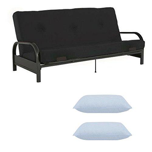 Mainstay* Memory Foam Futon,Black PU (Black PU)