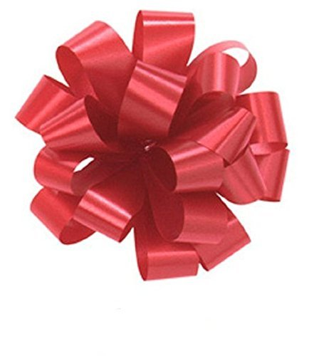 Set of 50 RED Pom Pom, Pull Bows/Hank Bows Without Strings, 5