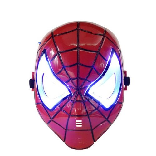 Spiderman Blue LED Flash Light Eyes Magic Mask (Spiderman Costume Movie)