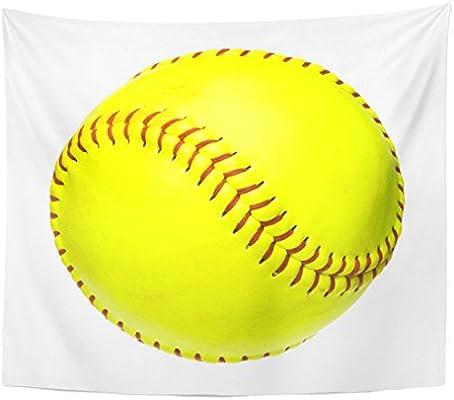 Berrykey Tapestry Yellow Béisbol Soft Balón de White Equipment ...