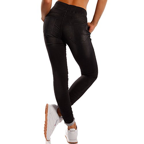 Jeans Nero Relaxed Italy Donna Made Basic 0q5FZO