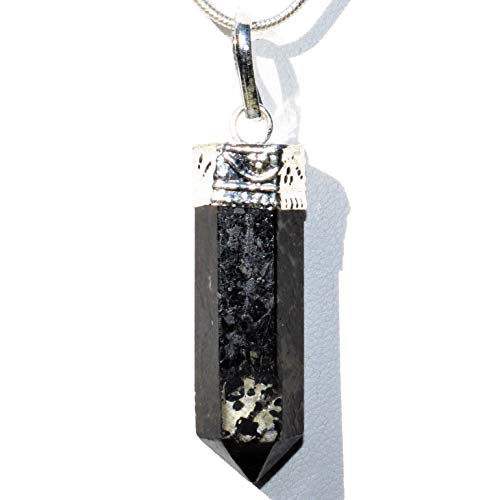 Zenergy Gems Charged Faceted Starburst Flash Nuummite Crystal Perfect Pendant + 20
