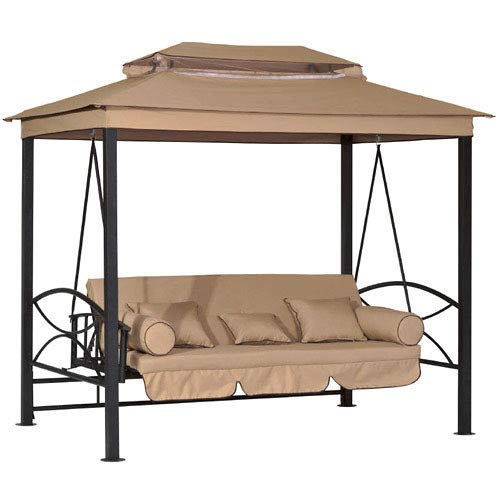 Garden Winds Replacement Canopy Top Cover for The CTS Gazebo Swing - Standard 350 - Gazebo Swing