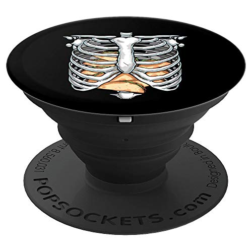 Halloween Skeleton Ribs Food (Funny Rib Cage Skeleton X-ray Tacos Halloween Easy Costume PopSockets Grip and Stand for Phones and)