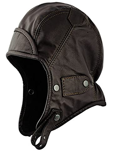Sterkowski Genuine Leather Trapper Aviator Hat US 7 3/4 -
